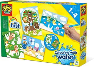 SES Creative 14456 Colouring with Water-Hidden Animals