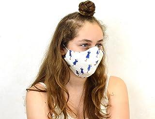 Mascarilla reutilizable de tela homologada, mascarilla higienica de tela reutilizable para niñosversible anti polvo, la pu...