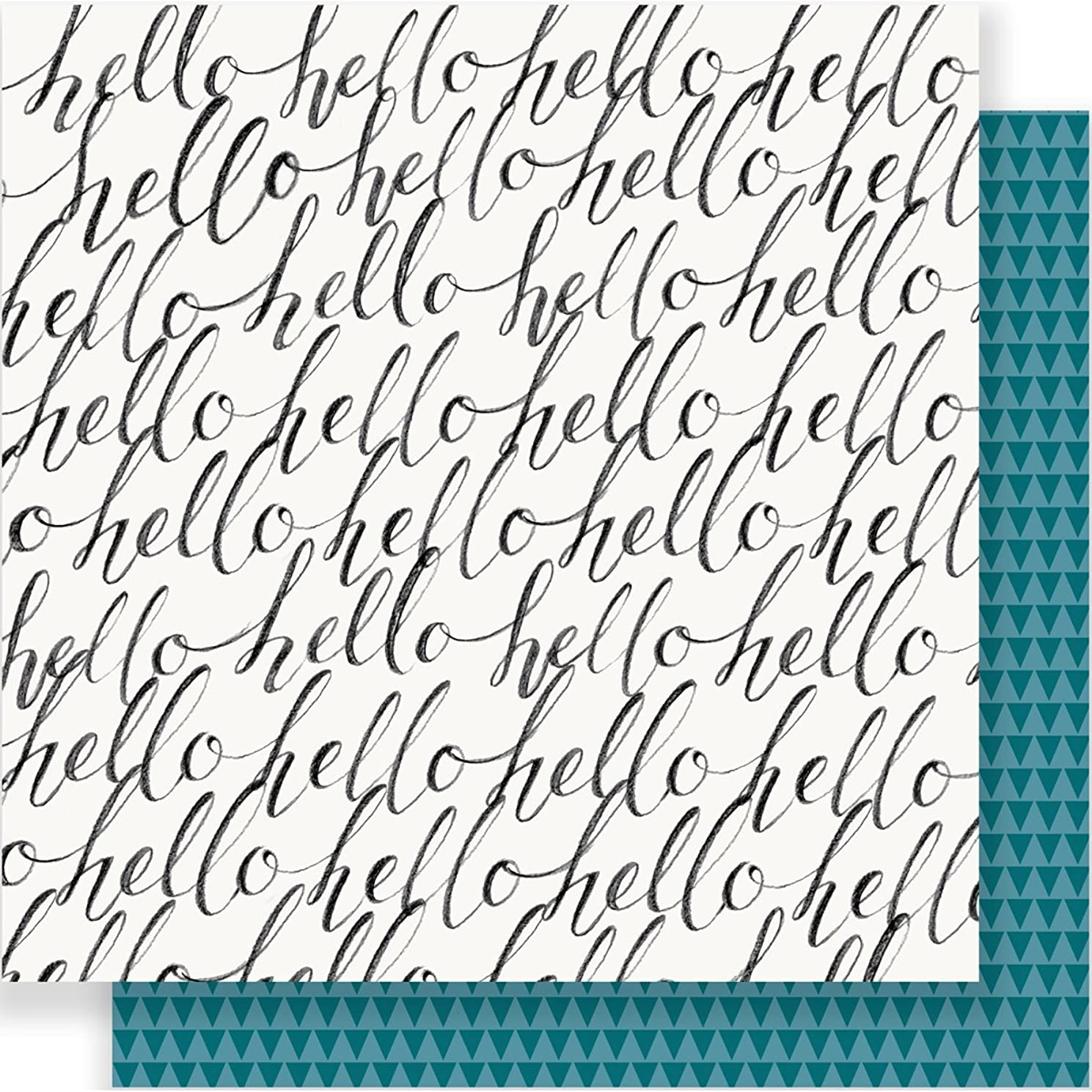 American Crafts 680426 Maggie Holmes Bloom Foiled Vellum Cardstock (25 Sheets Per Pack), 12