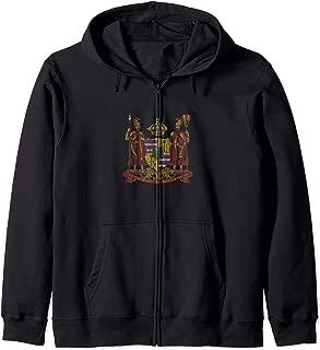 Hawaii Monarchy Coat of Arms - Vintage Distressed Zip Hoodie