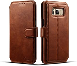 Samsung Galaxy S8 Plus Mobile Phone Leather Back Cover-Brown