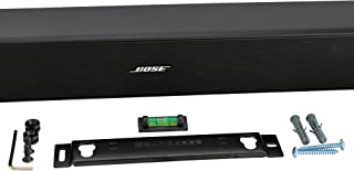 Sound Bass Universal Soundbar Wall Mount Kit for Bose Cine Mate 120/Solo 5 (Black)