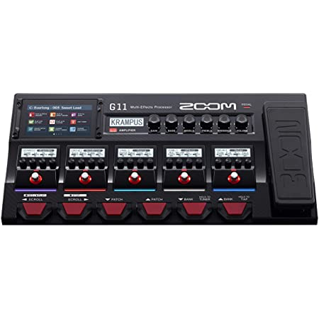 Zoom 11 Guitar Multi-Effects Processor with Expression Pedal, with Touchscreen Interface, 100+ Built in Effects, Amp Modeling, IR, Looper, Audio Interface for Direct Recording to Computer