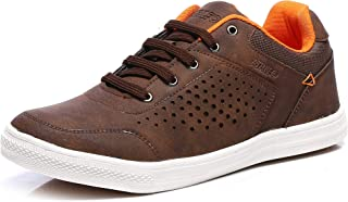 Action Shoes Men's Brown Running Shoes  - 8 UK (42EU) (CNV-101-BROWN)