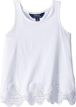 Polo Ralph Lauren Kids - Lace-Trim Jersey Tank Top (Little Kids)
