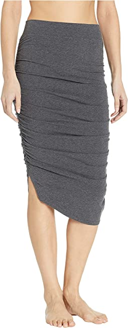 Shirred Poet Skirt