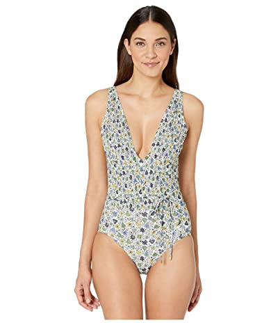 Tory Burch Swimwear Printed Smocked One-Piece (Love Floral Degrade) Women