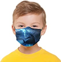Godzilla Mask Boys Girls Protective 5-Layer Activated Carbon Filters M-Shaped Nose Clip