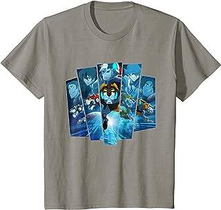 Kids Voltron Legendary Defender 5 Lions in Blue Hue T-Shirt