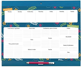 Boxclever Press Grocery List Magnet Pad for Fridge. Meal planner & Grocery list. Weekly planner with easy tear-off grocery lists. Organize meal prep. Pocket for coupons & receipts. Measures 11 x 9''.