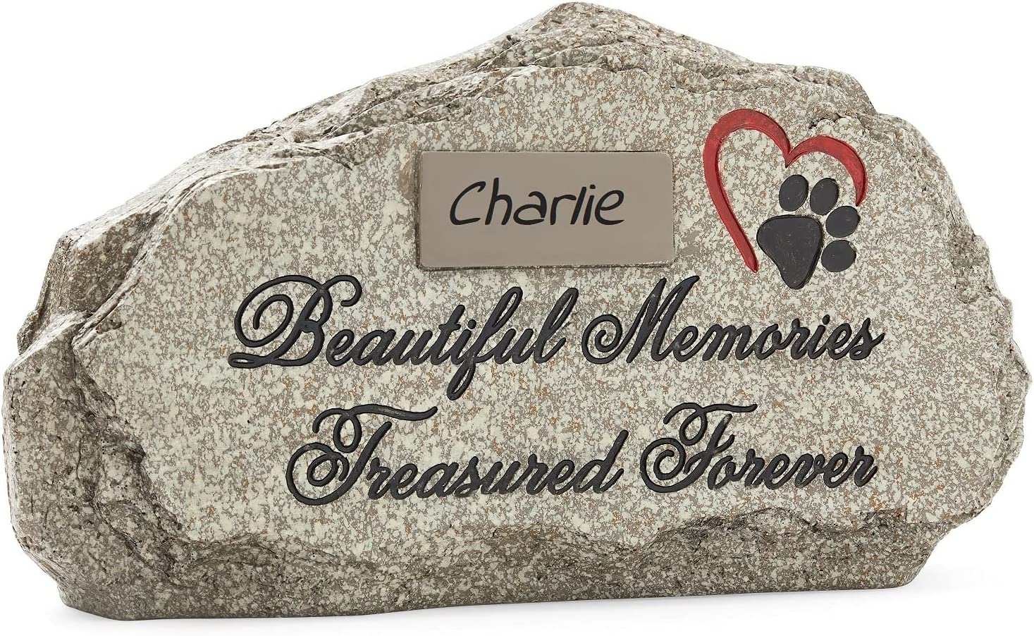 Pet Grave Stone Personalized. Can Be Displayed Indoors or Out. A Beautifully Packaged Cat or Dog Loss Sympathy Gift for a Grieving Pet Owner. Headstone, Tombstone or Monument, DIY Personalize at Home.