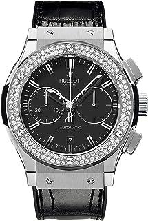 Hublot - Reloj clásico Fusión cronógrafo diamantes de titanio 521.NX.1170.LR.1104