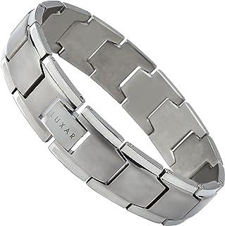 LUXAR Men's Titanium Link Bracelet | Solid Titanium Adjustable Bracelet Designed for Men | Explore The World of Luxar