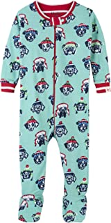Baby Boys Organic Cotton Footed Sleepers