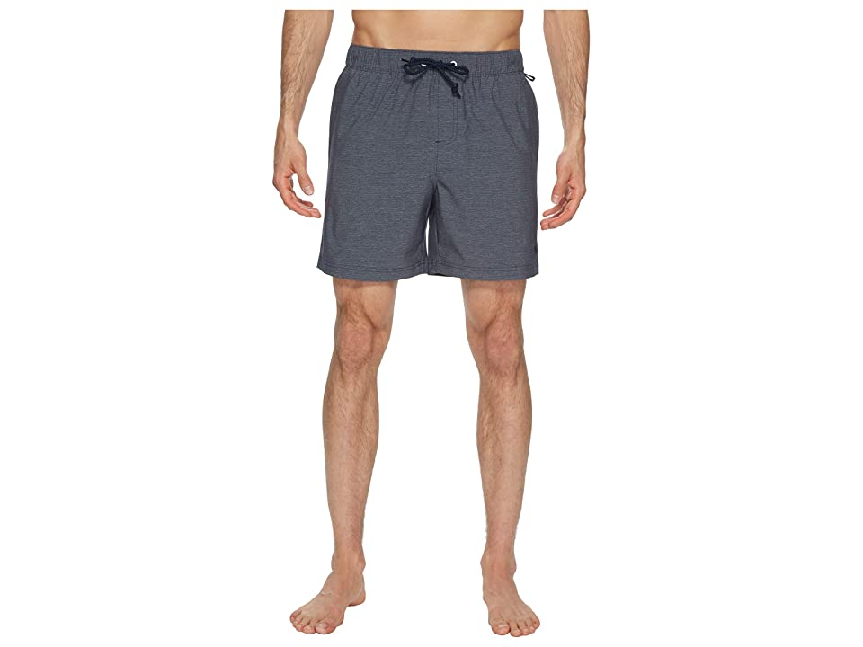 Original Penguin Heathered Swim Trunk (Dark Sapphire) Men