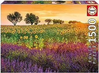 Educa Borrás 17669 Feld Mit Sonnenblumen und Lavendel Educa Borras Field with Sunflowers and Lavender 1500 Piece Jigsaw Pu...