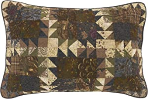 Donna Sharp Pillow Sham - Mountain Lodge Lodge Decorative Pillow Cover with Patchwork Pattern - Standard