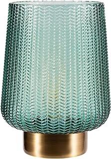 Pauleen 48136 Pretty Glamour Lampe Mobile Poser minuterie de 6 Heures Pile luminaire câble Verre Métal, 0.8 W, Laiton, Tur...