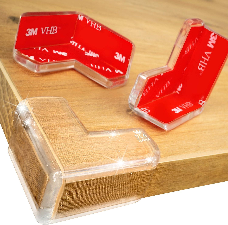 Pour /Équiper Toute la Maison DEASANA/® Protections Coins 14//28 Pi/èces Prot/ège-Coin de Table Transparent avec de lAdh/ésif Double-Face 3M VHB Coussin Large pour Protection Maximale de B/éb/é