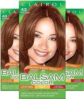 Clairol Balsam Color Women's Permanent Hair Color, 043 Medium Golden Brown, 3 Count