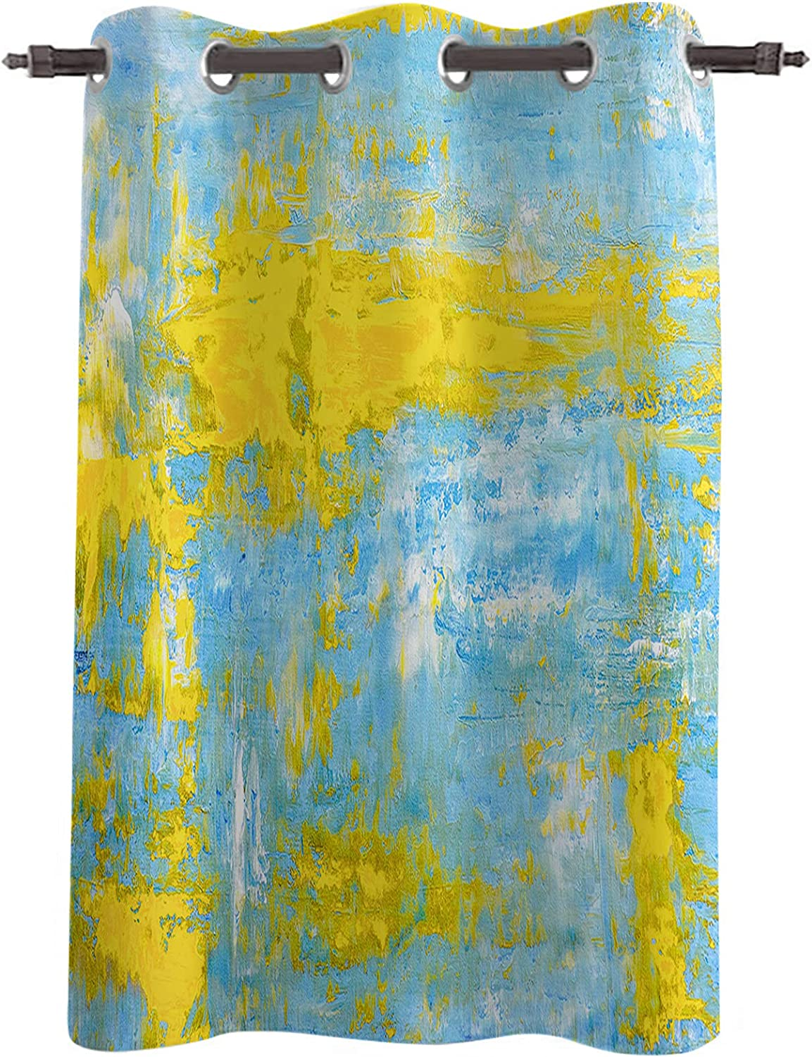 Blackout Curtains Abstract Artwork Yellow Texture 1 Max 84% Sale Special Price OFF Pan Painting