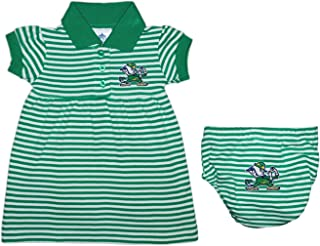 University of Notre Dame Fighting Irish Baby and Toddler Striped Game Day Dress with Bloomer