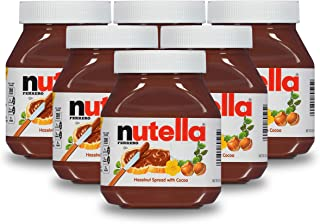 Nutella Chocolate Hazelnut Spread, Perfect Topping for Pancakes, 26.5 oz (Pack of 6)