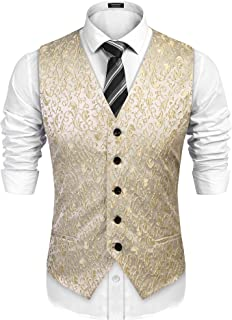 mens gold wedding waistcoats
