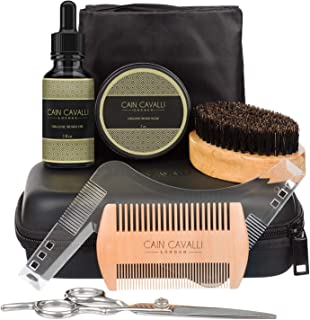 brush And Comb Kit For Men-beard Care Gift Set With Organic Ingredients Mustache Moisturizing Wax Set 5 Pcs balm Beard Oil