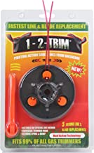 1-2-Trim Blade and Line Gas Trimmer Universal Weed Eater Head Replacement