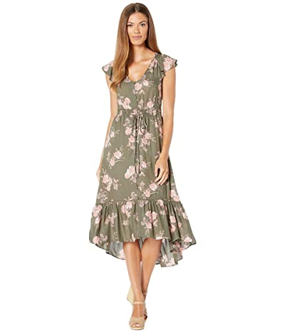 Lucky Brand Felice Dress (Olive Multi) Women