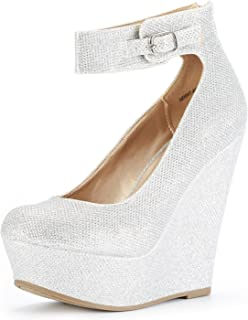 Best silver platform heels with ankle strap Reviews