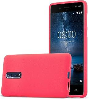 d4eafb7e7ab Cadorabo Funda para Nokia 8 2017 en Frost Rojo - Cubierta Proteccíon de  Silicona TPU Delgada