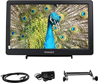 WIMAXIT 10.1インチモニター 1920x1080 HDMI VGA 入力 スピーカー内蔵 PS3 PS4 ゲーム用 ディスプレイ Raspberry Pi Xbox 360 Windows 7/8/10対応 ポータブルディスプレイ