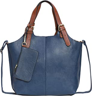 Women's Totes,Handbag for Women,Women's bag with Removable Crossbody bag Wallet,3pcs/Set PU Leather bag women Large Capaci...