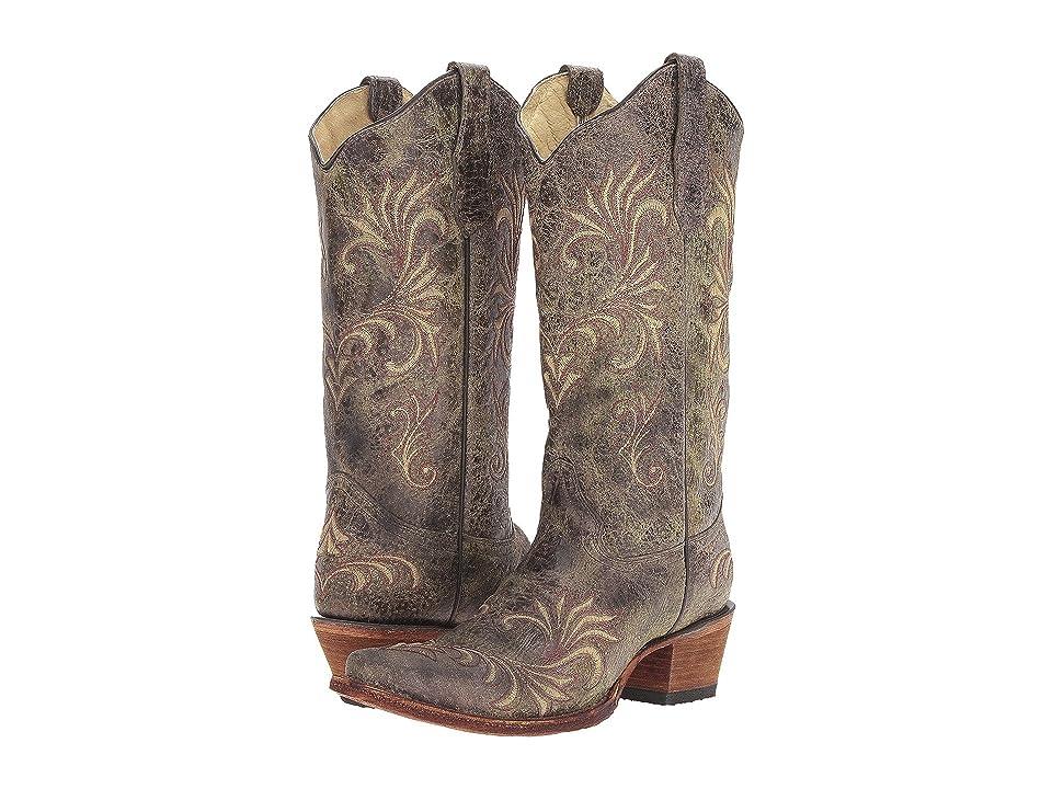 Corral Boots L5133 (Green/Beige) Women