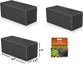 BBQ Grill Griddle Cleaning Brick Block (Pack of 3)   Pumice Stone Cleaner Tool Cleans & Sanitizes Restaurant Flat Top Grills or Oven Griddles, Kitchen Utensils & Iron Surfaces