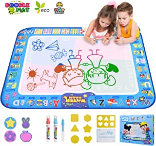 GTurtle Water Drawing Mat Doodle Mat Educational Learning Birthday Toddler Toys Gifts Painting Writing Magic Water Drawing...