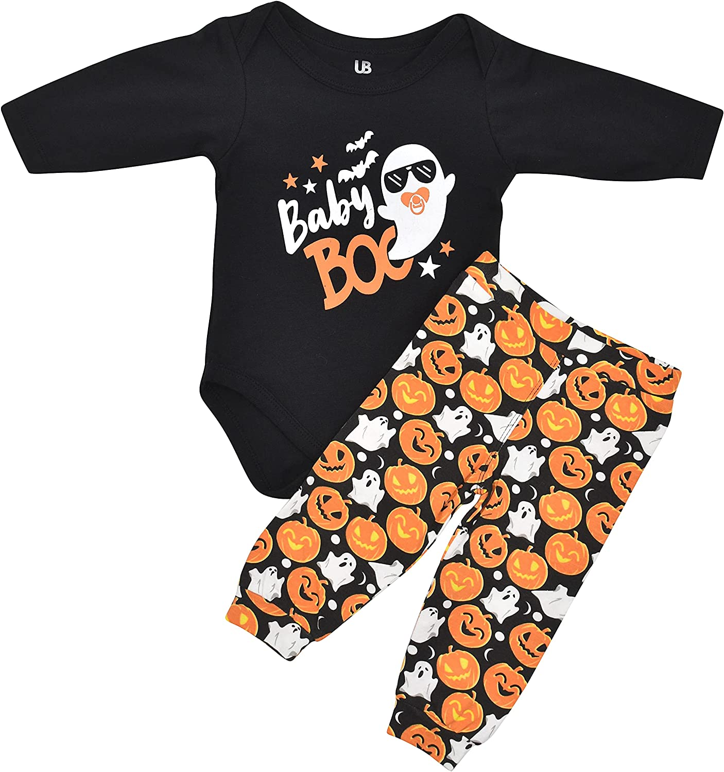 Unique Baby Unisex shop 1st Popular product Halloween Boo Set Ghost Layette
