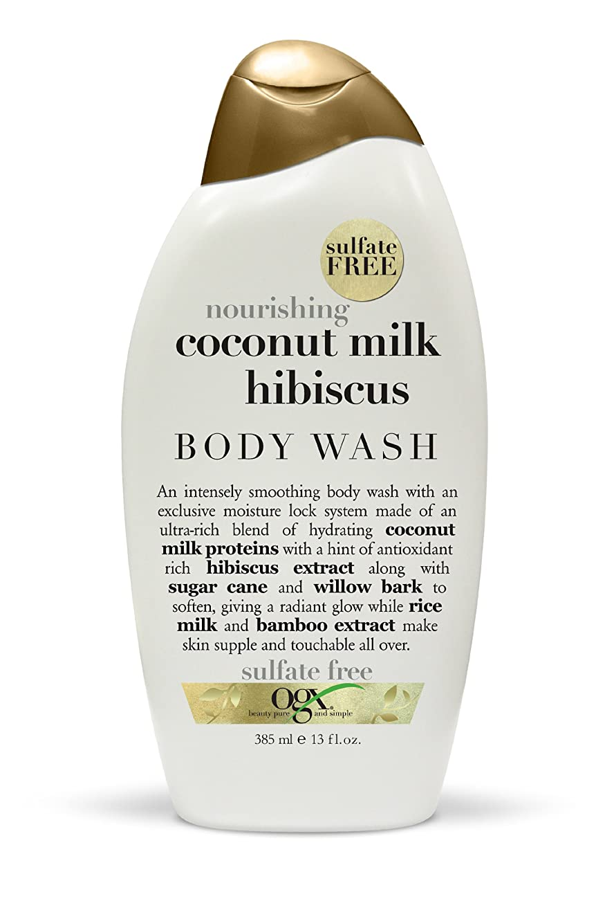 取る引っ張るパウダーOrganix Body Wash Coconut Milk 385 ml (Nourishing) (並行輸入品)