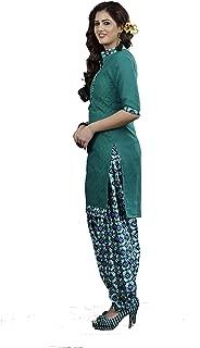 Minu salwar Cotton Printed Suit sets Forest Green(Lucknowipatyala_1006)