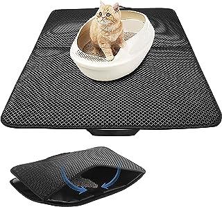 "H HOME-MART Cat Litter Mat Litter Trapper Large Size 27.55"" x21.65"", Honeycomb Double-Layer Design Waterproof Urine Proof ..."