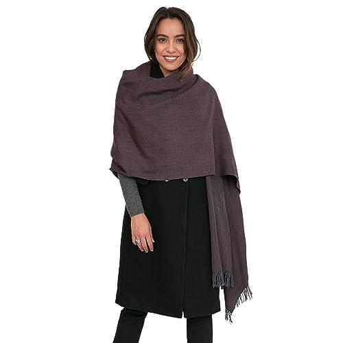 eb3a37102 Herringbone Handloom Merino Wool Pashmina Scarf