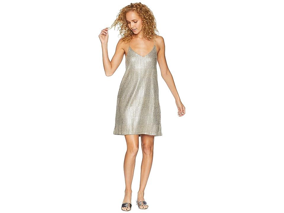 Bishop + Young Metallic Slip Dress (Metallic) Women
