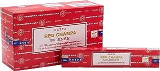 Satya Red Nag Champa 15g Pack of 12 (12 boxes x 15 grams)