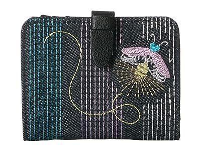 Vera Bradley Iconic RFID Small Wallet (Moonlight Garden) Wallet Handbags