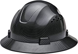 Safety Hard hat HDPE Hydro Dipped Black Full Brim Hard Hat with Fas-trac Suspension