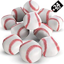 """Bedwina Mini Soft Baseballs - Pack of 24 Bulk - 2"""" Sports Themed Foam Baseball Toys and Squeeze Stress Relief Balls, Party..."""