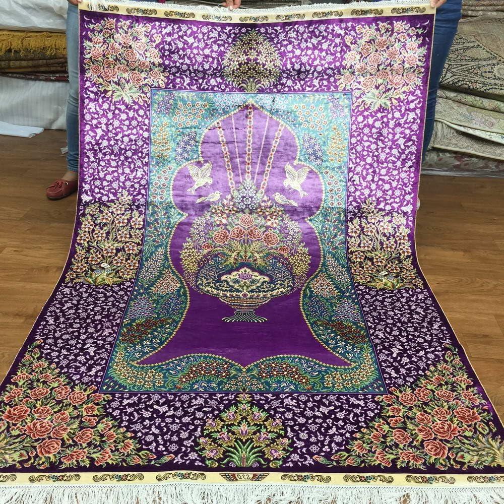 Yuchen New 4'x6' Buy Super popular specialty store Handmade Home Fine Carpets Hand Pak Max 62% OFF Persian