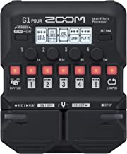 Zoom G1 FOUR Guitar Multi-Effects Processor Pedal, With 60+ Built-in effects, Amp Modeling, Looper, Rhythm Section, Tuner,...